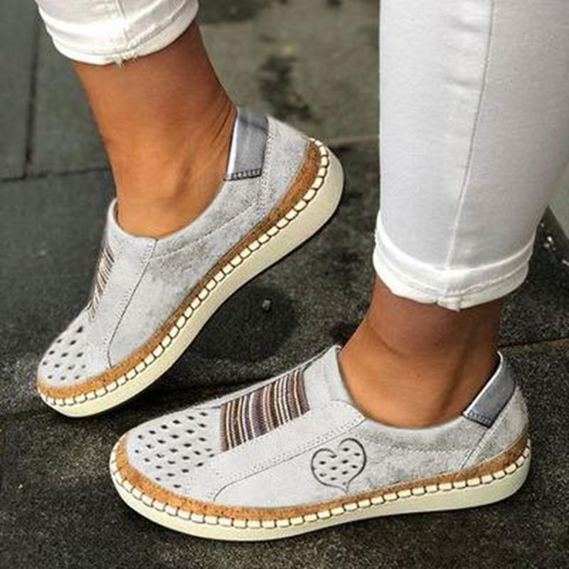 White Women Shoes Flats Casual Shoes 2019 Fashion Mesh Women Sneakers Platform Flats Breathable Dropship Wholesale
