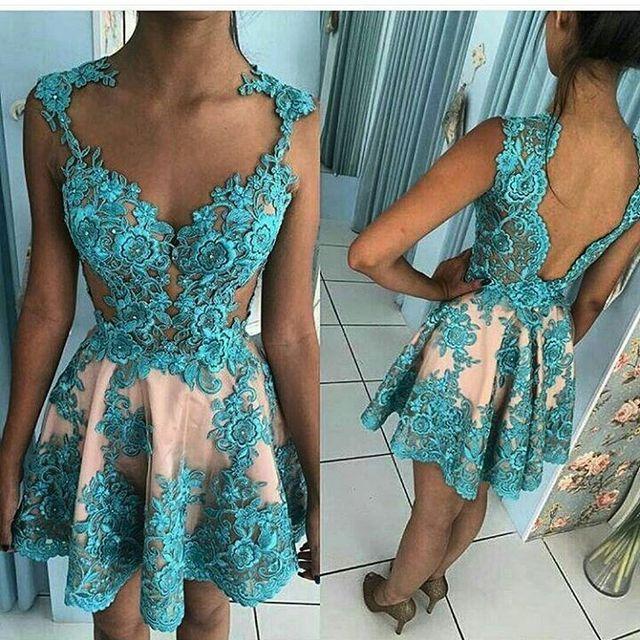 Cocktail Dresses Plus Size Short Evening Prom Dress 2019