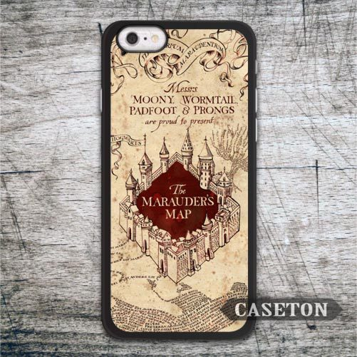 Marauder's Map Harry Potter Case For iPhone 7 6 6s Plus 5 5s SE 5c and For iPod 5 High Quality Classic Lovely Cute Funny Cover