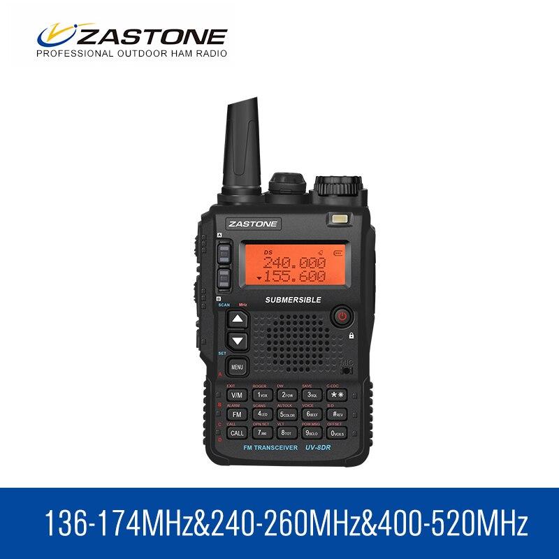 Walkie Talkie Zastone UV 8DR VHF UHF 136 174MHz 240 260MHz 400 520MHz tri band 128