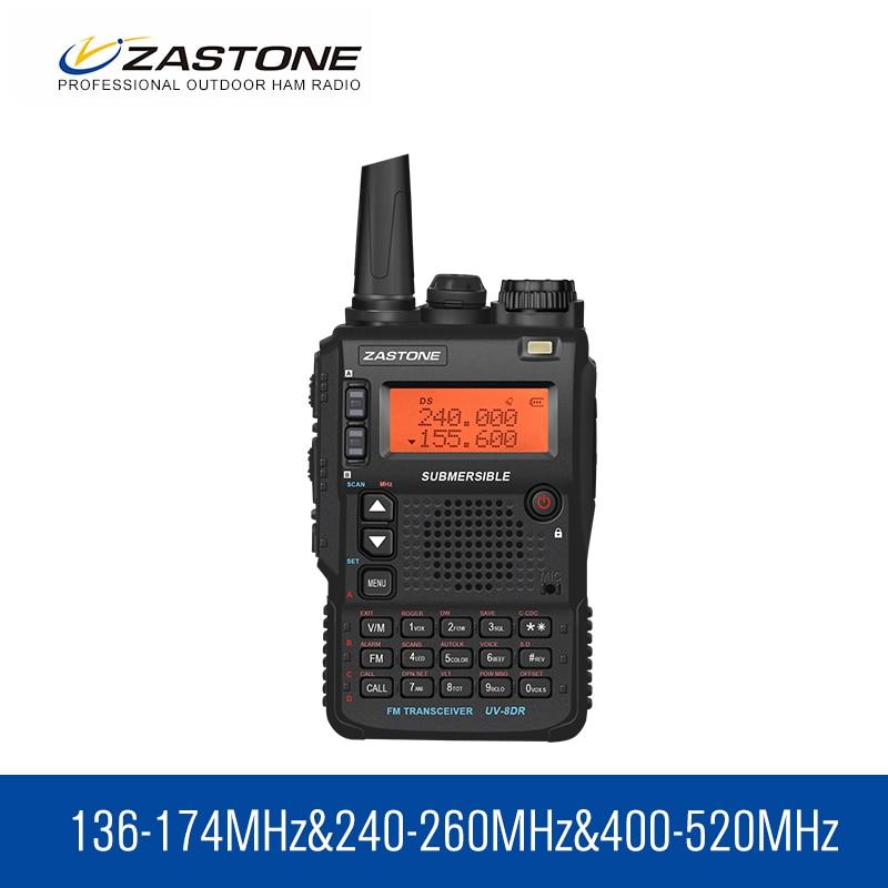 Walkie Talkie Zastone UV-8DR VHF/UHF 136-174MHz 240-260MHz 400-520MHz  Tri Band 128 CH UV8DR Two Way Radio Ham Radio Comunicador