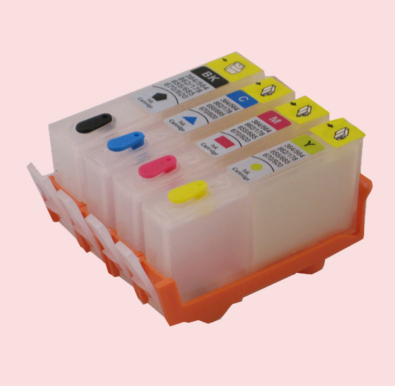 For HP 655 Refillable Ink Cartridge For HP655 Deskjet 5525 3525 4615 4625 6525 with Chip CZ109AE CZ110AE CZ111AE CA112AE compatible ciss for hp655 hp 655 for hp deskjet 4615 4625 3525 5525 with ink level chip