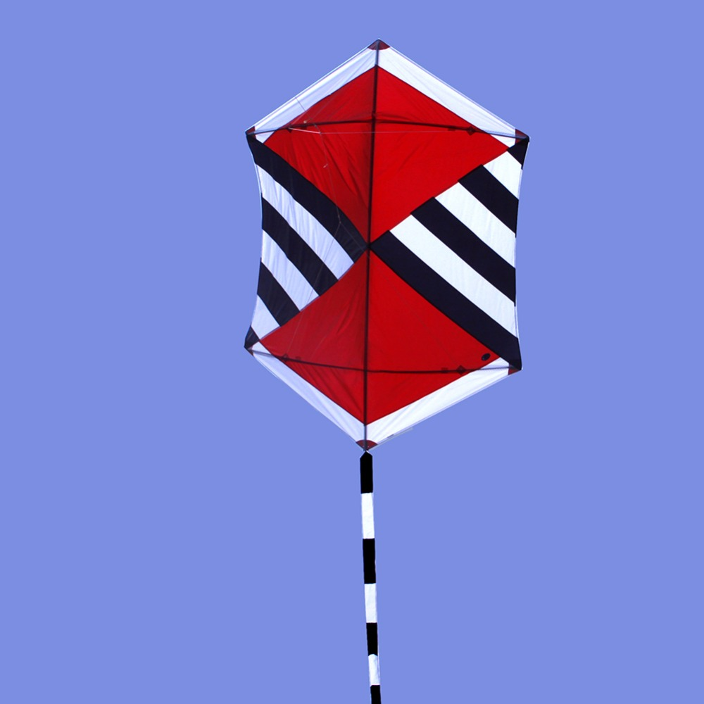 Large Kite Flying 1.75M Ripstop Nylon Material Single Line Rokkaku Beach Kite With Tail Kids Toy Park Grassland Play