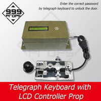 999 PROPS Morse Code Device Telegraph Keyboard with LCD Controller Prop Escape Room Game Enter correct password to open door