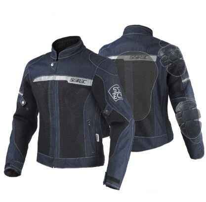 Motorcycle anti wrestling offroad car mesh denim biker jersey jAcket