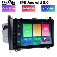 2 Din 9 Android 8.0 Octa 8 core Car DVD Player For Benz Sprinter Vito W169 W245 W469 W639 B200 Radio Stereo GPS WiFi 4G RAM