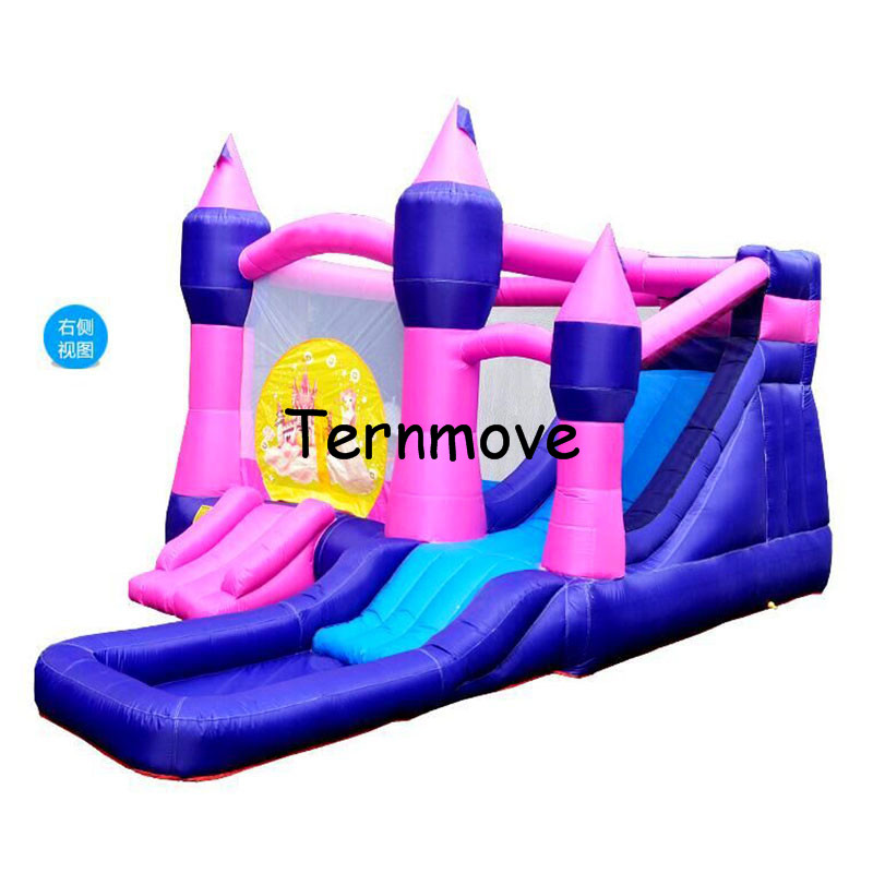 inflatable water slide castle,home use Slides kids indoor playgrounds toys for garden,indoor inflatable bouncers for kids 2017 summer funny games 5m long inflatable slides for children in pool cheap inflatable water slides for sale