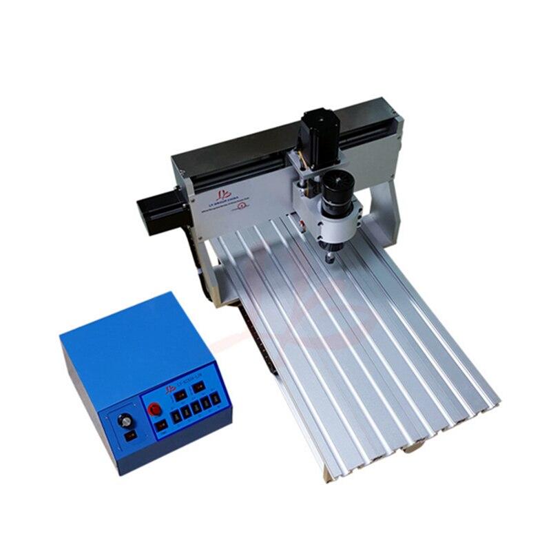 Mini CNC routeur 6061 et 6063 dur en alliage d'aluminium 3 axes 3020 500 W DC broche CNC machine de gravure