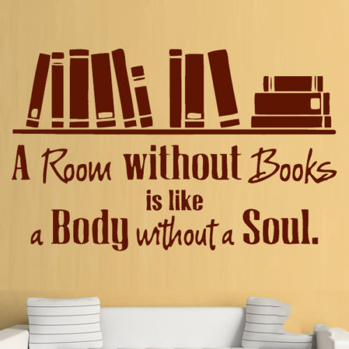 Room without Books Reading Quote Wall Art Stickers Decals Vinyl ...