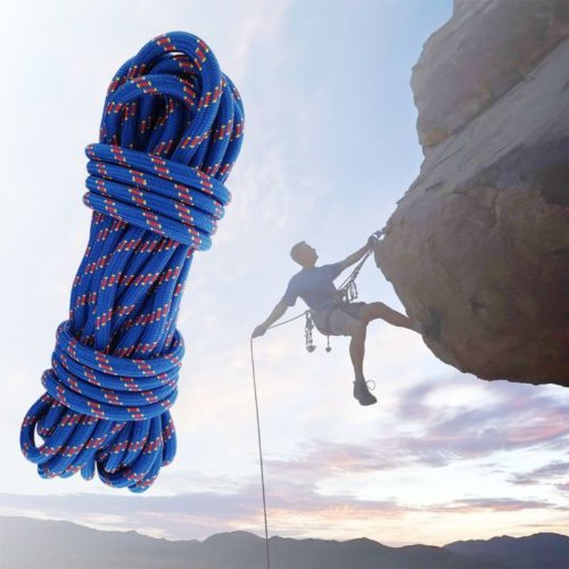 Paracord Climbing Rope 20M 3kN Outdoor Rock Lanyard Diameter 10mm High Strength Safety Camping Cord Hiking Climbing Accessory 8mm climbing multi purpose paracord rope cord blue 20m