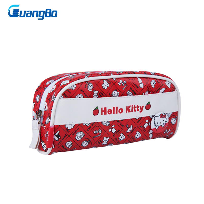 Guangbo pencil bag Hello kitty pencil case for girls Cute pencil pouch pen bag office school supplies kawaii pencil stationery