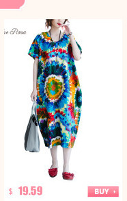 BelineRosa 2017 Big Sizes Women Clothing Bohemian Style Chinese Style Floral Printing Cotton Linen Dress 4XL 5XL HS000264 5