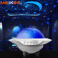 UFO Starry Sky Projector LED Night Light Bluetooth Control Bedroom Night Lamp Children USB Music Atmosphere Light for Party