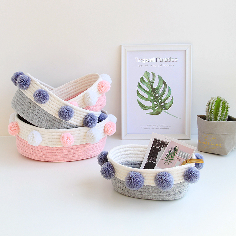 Oval Cotton Belly Basket Storage Organizer Baskets Clothes Fabric Baby Toys Sundries Gadgets Home Accessories Supplies Products