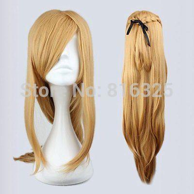 DM690012>>>Fashion Master Sword Art Online Asuna Yuuki Classical Golden Cosplay WiG