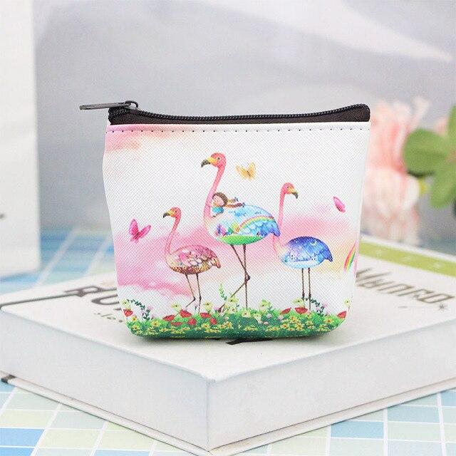 Cartoon Cute Unicorn Flamingo Coin Purse Girl Wallets Women Mini Change Purse For Key Card Kids Children Coin Pouch Gift K022