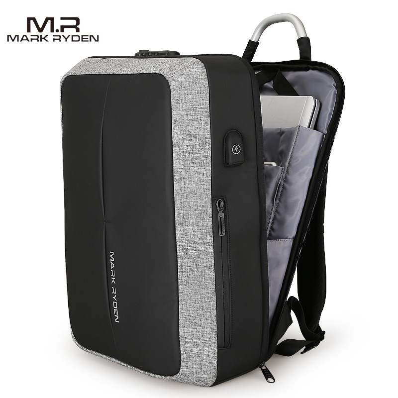 Mark Ryden nouveau Anti-vol USB charge hommes sac à dos sans clé TSA Lock Design hommes d'affaires mode sac à dos voyage