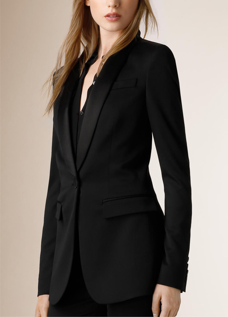 Custom made Black Women High Quality slim Suit Office ...