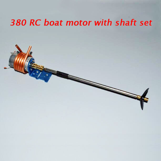RC Boat Drive Motor 380 Motor with Motor Mount Fasten Holder+Water Cooling Tube+Shaft+Propeller+Coupling Set Spare Parts все цены