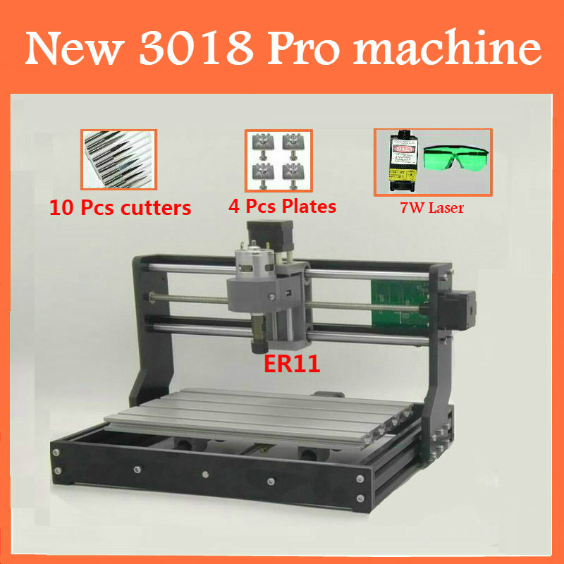 CNC3018 withER11 diy mini cnc engraving machine laser engraving Pcb PVC wood router cnc 3018 pro
