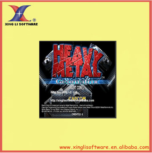 Heavy Metal:Geomatrix for combat shooting/arcade game /JAMMA PCB/computer board