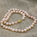 Natural genuine orange pearl beads necklace beads 8-9mm women statement choker chain mother gifts charms jewelry 18inch B3233