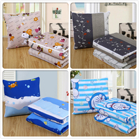 Sofa Pads Quilt 2 In 1 Multifunction Child Camp Office Chaise Lounge Chair Back Cushion Plaid