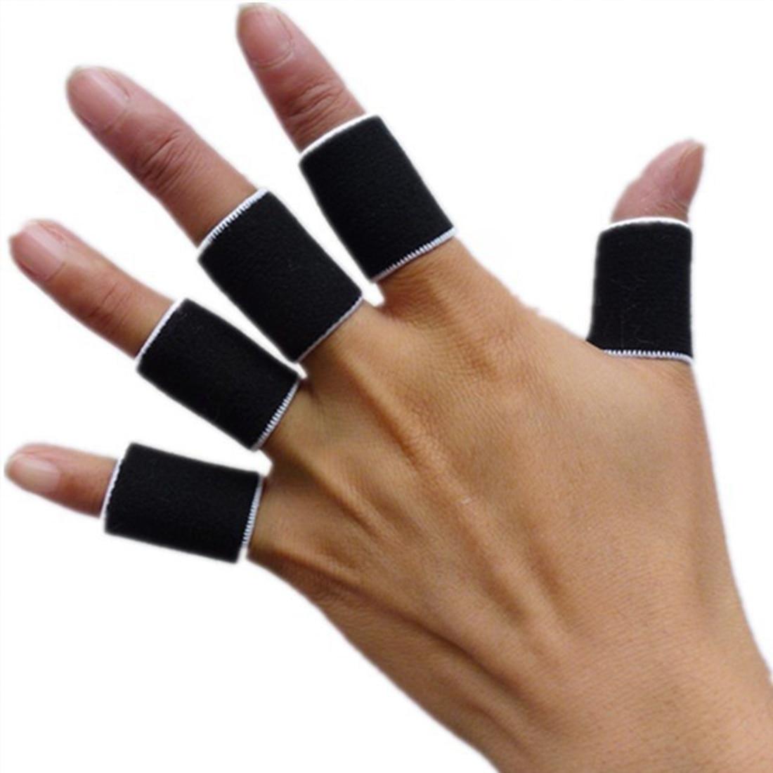 10Pcs Sports Finger Splint Guard Bands Bandage Support ...