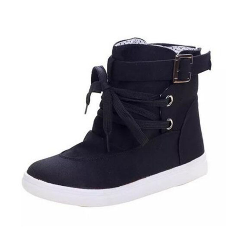 The spring and autumn period and the flat boots high help female fashion canvas shoes casual boots boots sexy comfortable shoes