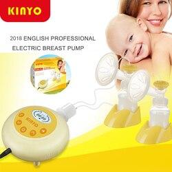 جديد ترقية Kinyo مزدوجة مضخة الثدي الإلكترونية الطفل الحليب مزدوجة النواة زجاجة الصامتة ماكينة وضع العلامات بشكل تلقائي التمريض مضخة الثدي s