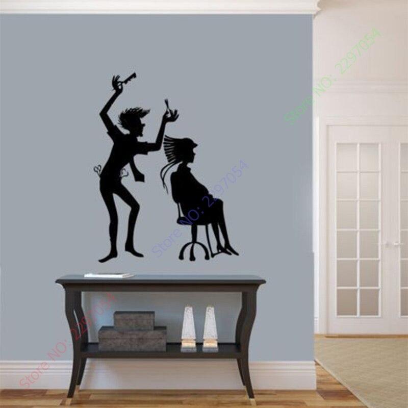 Креативная виниловая наклейка на стену для салона, дизайн красоты, стилист для волос, Парикмахерская настенная художественная наклейка, са...