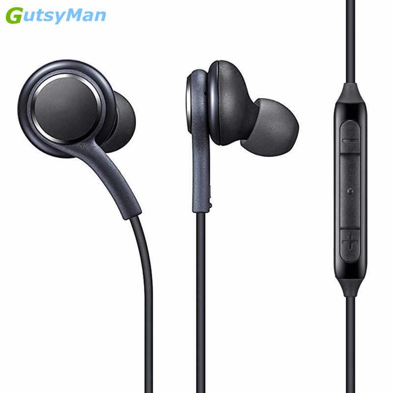 GutsyMan S8 หูฟัง SUPER CLEAR หูฟังหูฟังสำหรับหูฟัง iPhone 6 Xiaomi Samsung S8 S8 + หมายเหตุ 8 โลโก้