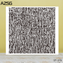 AZSG Maze Abstract Lines Clear Stamps For DIY Scrapbooking/Card Making/Album Decorative Silicone Stamp Crafts