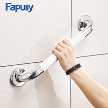Fapully Chrome Polished 304 Stainless Steel Bathroom Bathtub Handrail Safety Grab Bar Bathroom and Toilet Chair for Old People elderly bathroom toilet handrail disabled barrier sitting handrail pregnant woman safe handrail