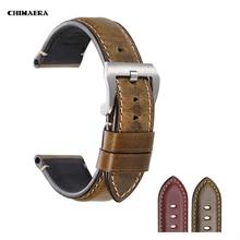Chimaera relógio acessórios pulseira de relógio 22mm 24mm couro vaca do vintage pulseiras para fossil