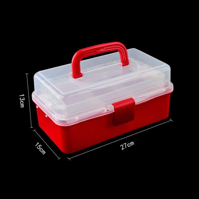 Image 3 - Hand held Desktop Nail Art Empty Storage Box Plastic Scissors Makeup Organizer Jewelry Nail Polish Container Manicure Tool Case-in Nail Art Equipment from Beauty & Health