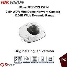 Hikvision Original English Version DS-2CD2522FWD-I 2MP WDR Mini Dome IP Camera 10m IR Vandal-proof POE IP66  CCTV Camera