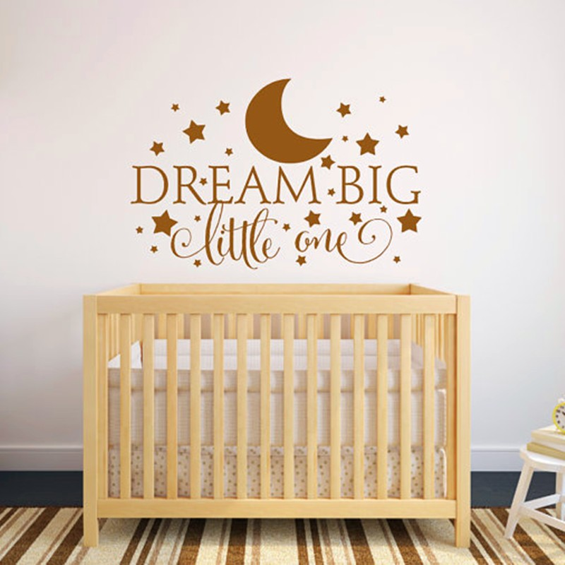 Dream Little One Quotes Wall Decal Nursery Sticker Baby