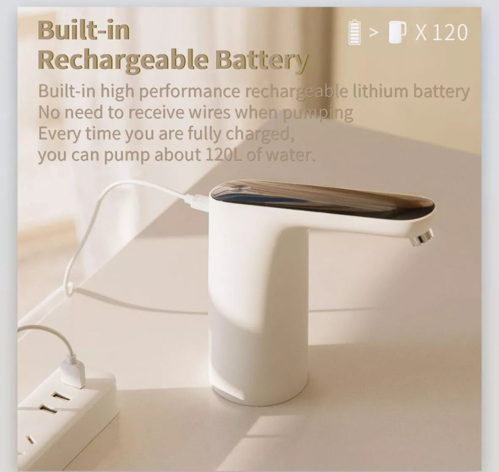 XIAOMI Mijia 3LIFE Automatic USB Mini Touch Switch Water Pump Wireless Rechargeable Electric Dispenser Water Pump With USB Cable (1)