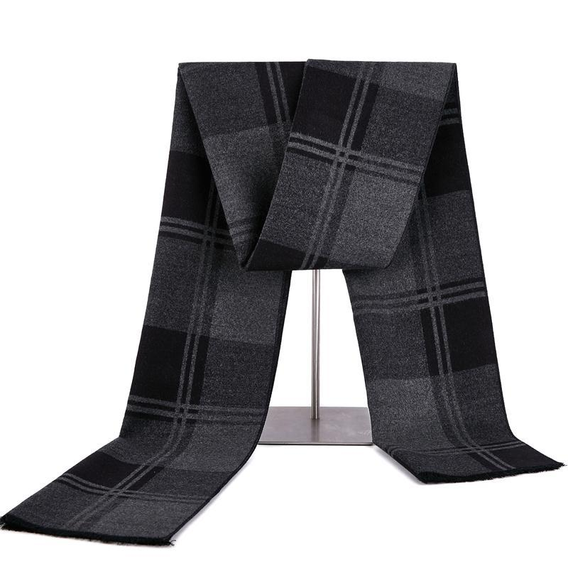 2020 Brand Man Scarf Neck Scarves Pashmina Cashmere Grid Scarf Autumn Winter Scarf Wool Warp Male Warm