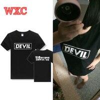 Kpop Super Junior Teufel Album T-shirt Park Korea Stil JungSu Kim HeeChul Tops T Harajuku Kurzarm Sommer Frauen Shirts WXC