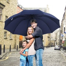 152CM Top quality Umbrella Men Rain Woman Windproof Large Paraguas Women Sun 3 floding Big Family Umbrella Outdoor Parapluie