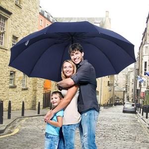 Image 1 - 152CM Top quality Umbrella Men Rain Woman Windproof Large Paraguas Women Sun 3 floding Big Family Umbrella Outdoor Parapluie