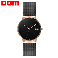 Women Watches DOM Brand Luxury Fashion Quartz Ladies Watch Clock Rose Gold Dress Casual Girl Relogio