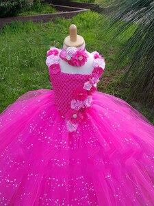 Image 2 - Платье пачка с V образным вырезом, с цветочным принтом