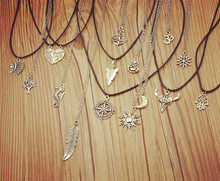 Цепи) (включая античный луна mix солнце посеребренная кулон девушка ожерелье дизайн
