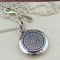 100% Genuine 925 Sterling Silver Jewelry Chain Signature Charm Drop Pendant Necklace with Clear Cz