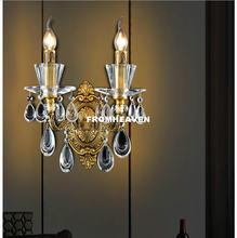 Бесплатная доставка настенный светильник из хрусталя настенные