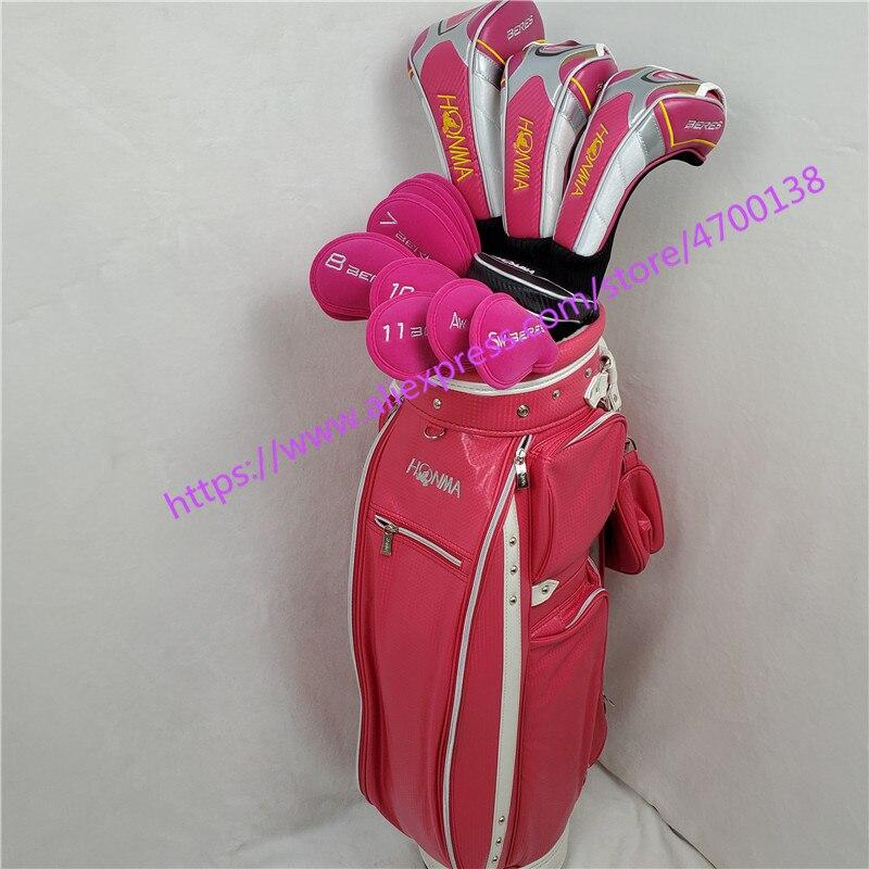 Women Golf Clubs Complete Set Honma Bere S-06 4 Star Golf Club Sets Driver+Fairway+Golf Iron+putter (13piece)