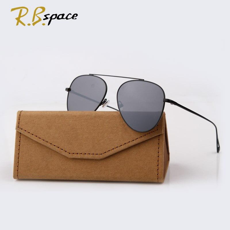 RBspace 2017 New Tide brand Classic sunglasses female fashion designer retro sunglasses Plated film lens Glasses Shades men